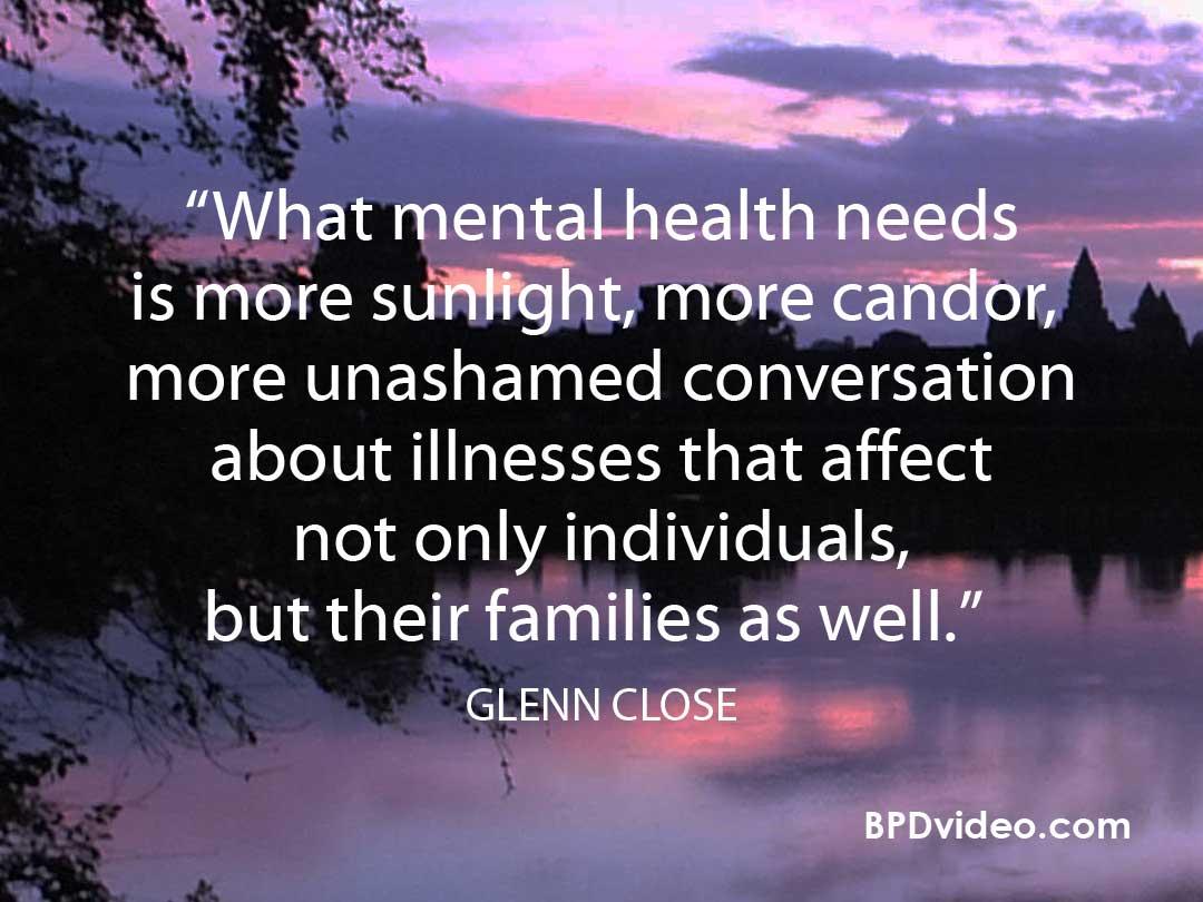 Glenn Close about Mental Illness stigma