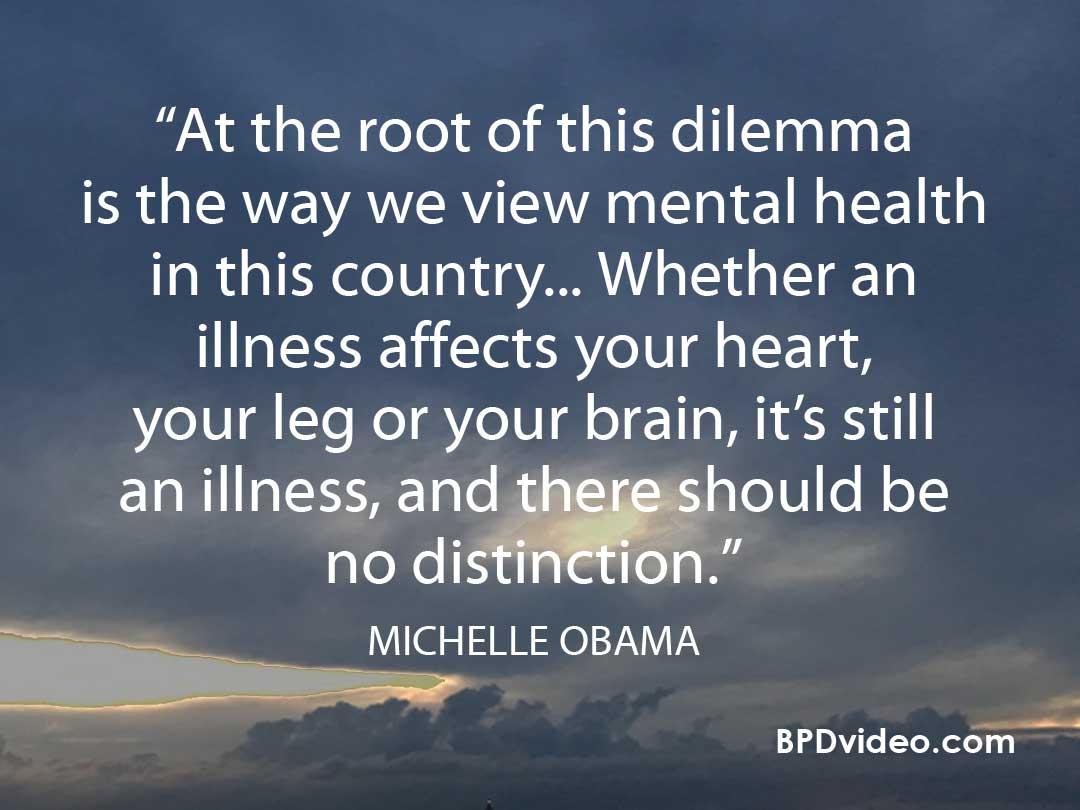 Michelle Obama on mental health stigma in US