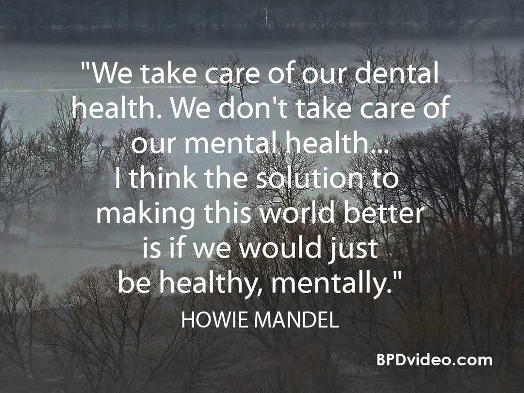 Howie Mandel on mental heath stigma