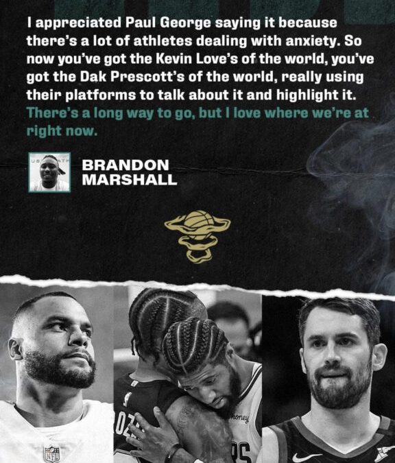 Brandon Marshall Thanks Kevin Love for Kick-Starting Conversations About Mental Health