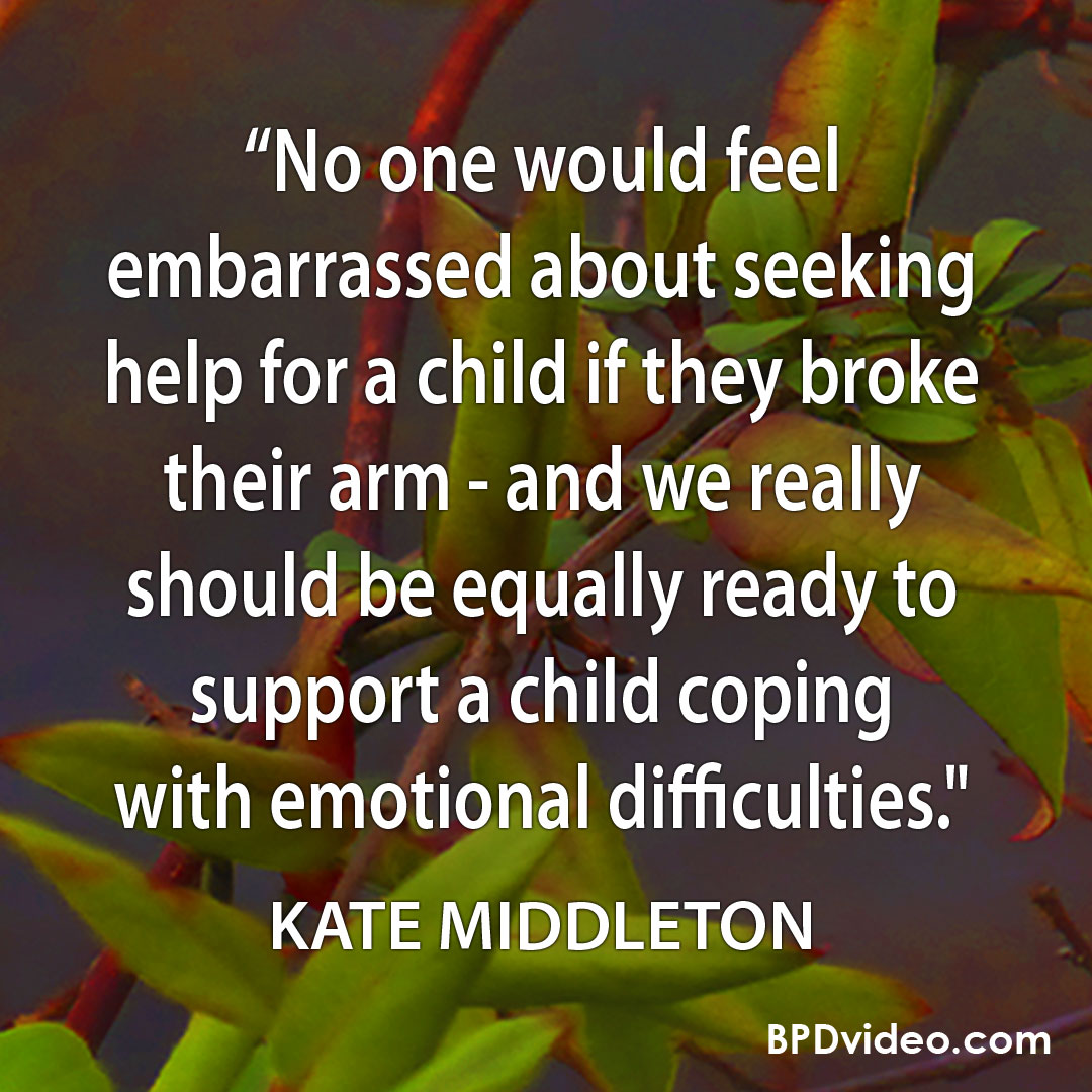 """Kate Middleton """"We really should be equally ready to support a child coping with emotional difficulties."""""""