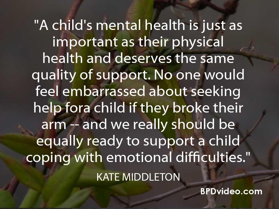 Stigma of Mental Health in Children - Kate Middleton