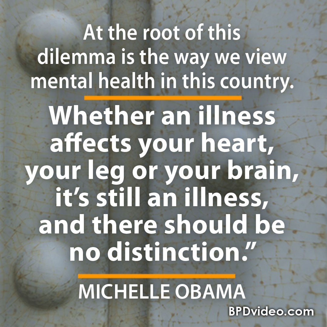 """Michelle Obama """"at the root of this dilemma is the way we view mental health in this country."""""""